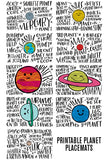Fun Fact Placemats: Planets