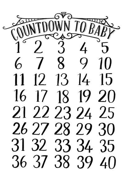 Pregnancy Chalk Countdown Chart