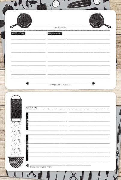 In the Kitchen Printable Recipe Cards