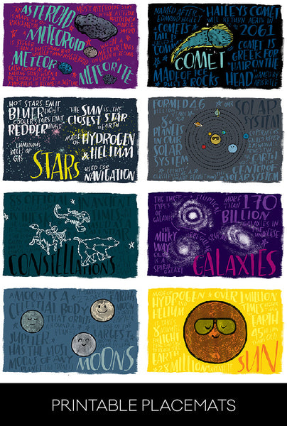 Fun Fact Placemats: Outer Space