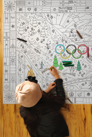 GIANT Winter Olympics Coloring Poster