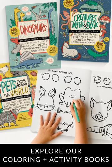 Explore Our Coloring + Activity Books
