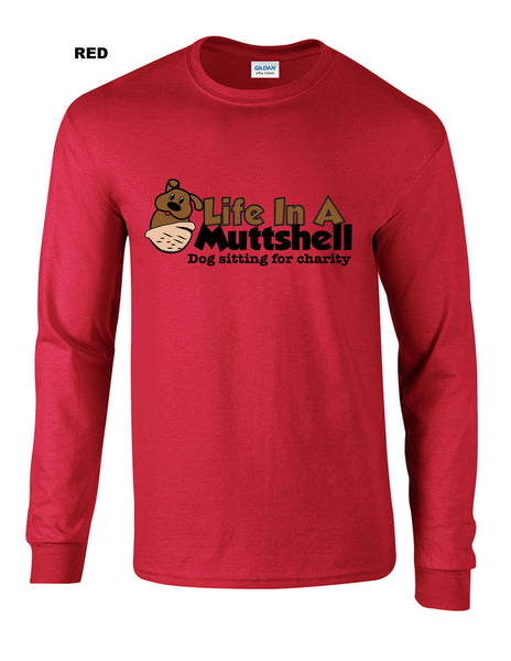 Life In A Muttshell - Logo -  Long Sleeve Shirt - Men's