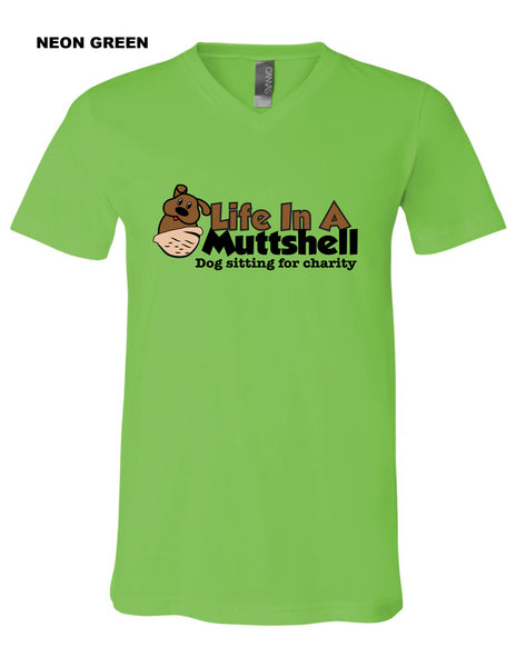 Life In A Muttshell - Logo - Short Sleeve Shirt - Vneck