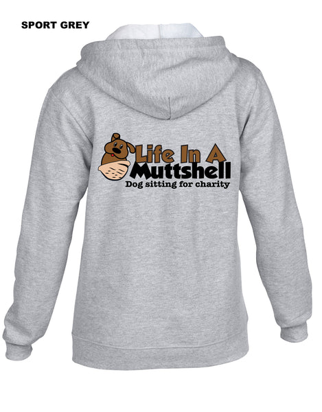 Life In A Muttshell - Logo - Sweatshirt - Full Zip Hooded - Men's