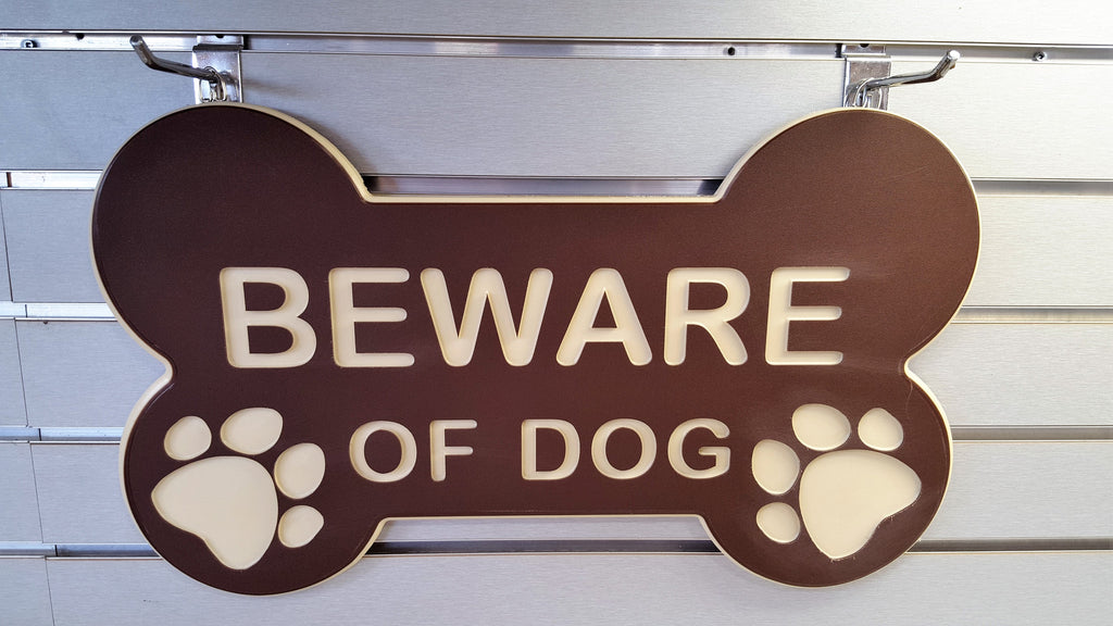 Beware of Dog - Large Bone