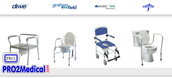 Buy Bedside Commode Chairs at PRO2 Medical Supplies in Lubbock TX
