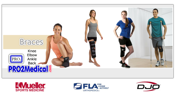 Shop Online Knee, Ankle, Wrist, Back Brace at PRO2 Medical Equipment in Lubbock Texas