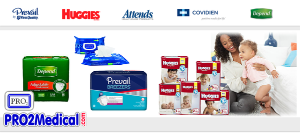 Buy Incontinence Briefs, Wipes and Products at PRO2 Medical Supplies in Lubbock Texas