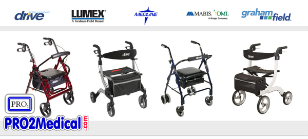 Buy Rollator Walkers for Physical Therapy at PRO2 Medical Supplies in Lubbock TX