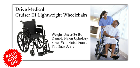Shop Drive Medical Cruiser III Lightweight Wheelchairs in Lubbock TX