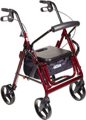 Rollator with Travelchair Combo includes footrest and patient can be pushed like a wheelchair.