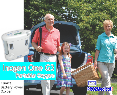 The Inogen One G3 Portable Oxygen Concentrator is perfect for travel, flight travel, and getting around town.