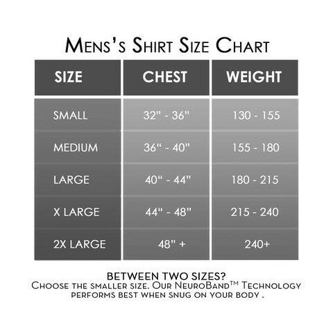 Mens Pullover Shirt AlignSport Size Guide