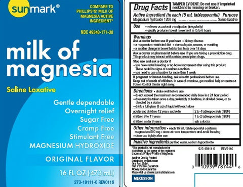 Milk of Magnesia from Sunmark at PRO2 Medical Supplies