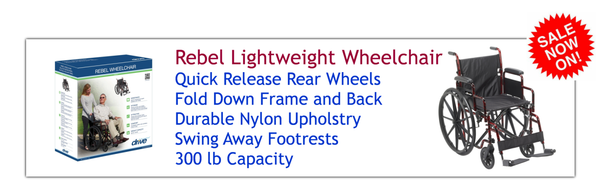Buy a Rebel Lightweight Wheelchair at PRO2 Medical Equipment in Lubbock Texas