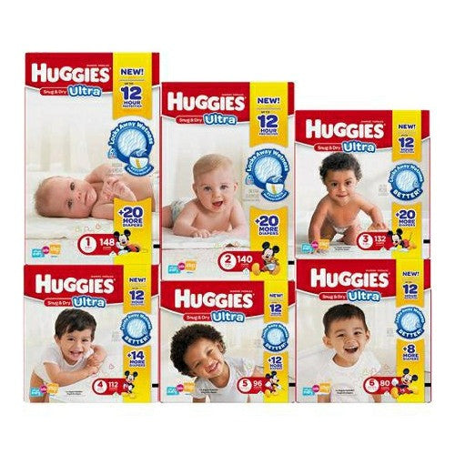 Size 2 Heavy Absorbency Snug & Dry Tab Closure Baby Diaper (12-18lbs) | Huggies #40699