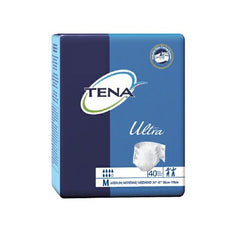 TENA Medium Incontinent Brief Ultra Brief Hook and Loop Tab Disposable Heavy Absorbency | TENA #67200