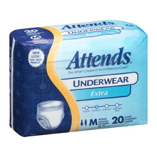 Attends Extra Pull On Disposable Moderate Absorbency Protective Underwear | Attends - PRO2 Medical Equipment Lubbock