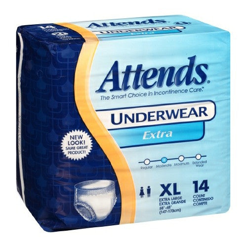 Attends Extra Pull On Disposable Moderate Absorbency Protective Underwear | Attends