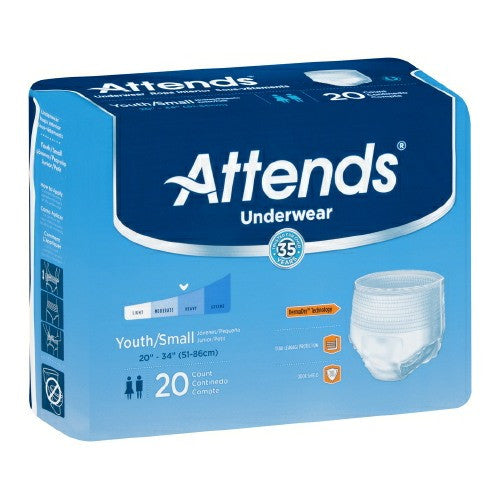 Youth Absorbent Underwear Attends Pull On Small Disposable Heavy Absorbency | Attends