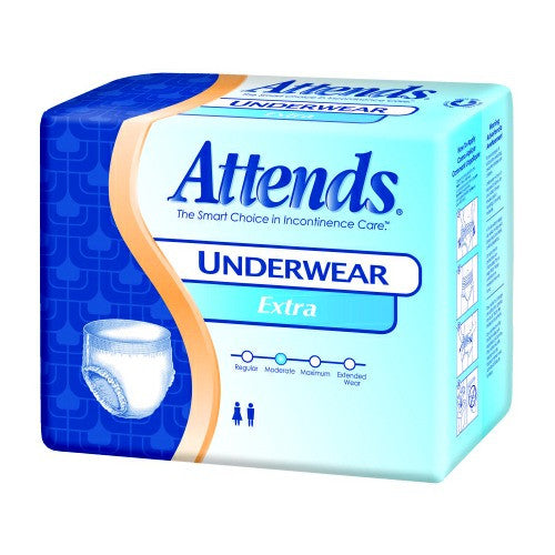 Pull On Absorbent Underwear Medium, Large, X-Large, Attends Disposable, Moderate Absorbency | Attends