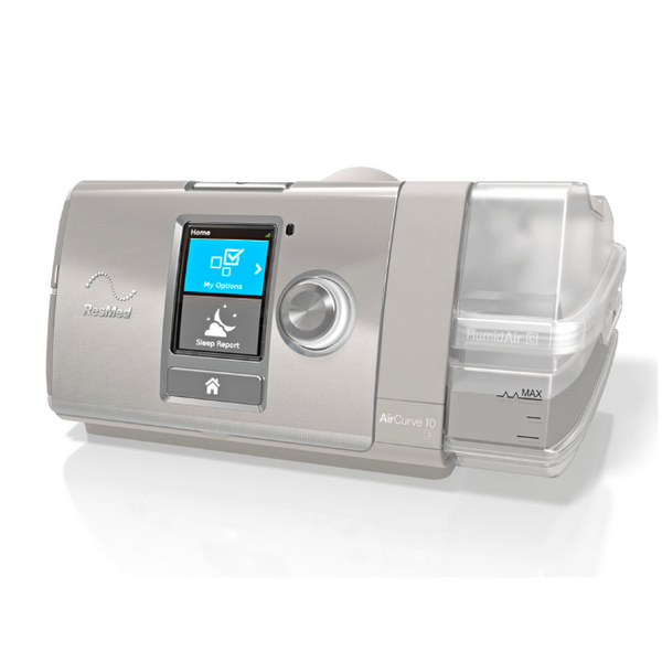 BiPap AirCurve 10 S, Heated Humitifier ClimateLineAir Tubing | ResMed - PRO2 Medical Equipment Lubbock
