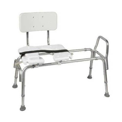 Bath Heavy-Duty Sliding Transfer Bench with Cut-Out Seat | Briggs #522-1734-1900 - PRO2 Medical Equipment Lubbock