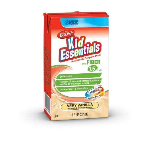 Boost Kid Essentials 1.5 With Fiber, 8 fl oz Tetra Brik, Vanilla | Nestle Nutrition