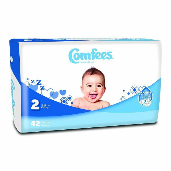 Comfees Size 2 Baby Diaper Tab Closure Disposable | Comfees #CMF-2 - PRO2 Medical Equipment Lubbock