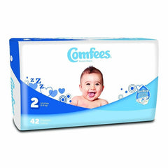Comfees Size 2 Baby Diaper Tab Closure Disposable | Comfees #CMF-2