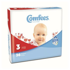 Comfees Size 3 Baby Diaper Tab Closure Disposable | Comfees #CMF-3