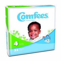 Comfees Size 4 Baby Diaper Tab Closure Disposable | Comfees #CMF-4
