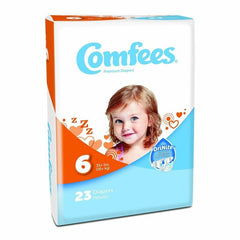 Comfees Size 6 Baby Diaper Tab Closure Disposable | Comfees #CMF-6