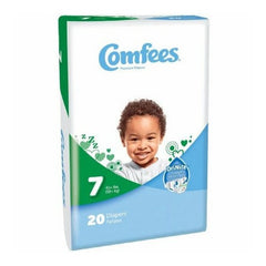 Comfees Size 7 Baby Diaper Tab Closure Disposable | Comfees #CMF-7
