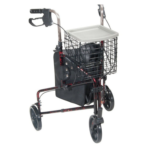 Deluxe 3 Wheel Aluminum Rollator, 7.5 Inch Casters | Drive Medical - PRO2 Medical Equipment Lubbock