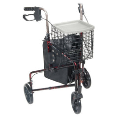Deluxe 3 Wheel Aluminum Rollator, 7.5 Inch Casters | Drive Medical