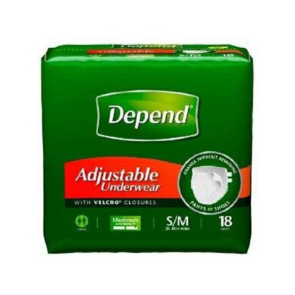 Pull On Absorbent Men's Underwear, Small to Medium, Heavy Absorbency, Depend | Kimberly-Clark #35445 - PRO2 Medical Equipment Lubbock