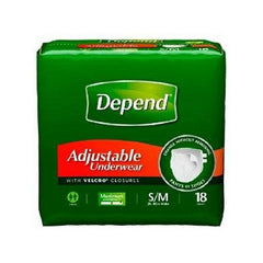 Absorbent Men's Underwear, Small to Medium, Heavy Absorbency, Depend Pull On | Kimberly-Clark #35445