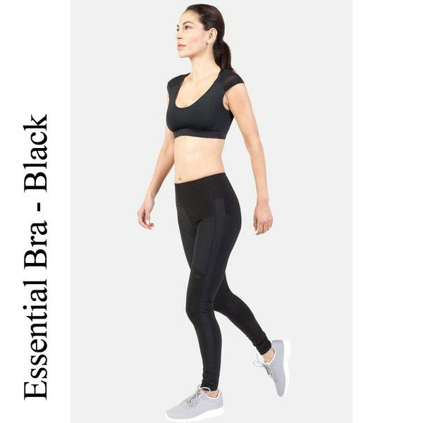 Essential Bra, Black Women's Compression Bra | IntelliSkin