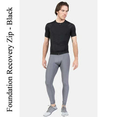 Foundation Recovery Zip, Black IntelliSkin Men's Compression Shirt