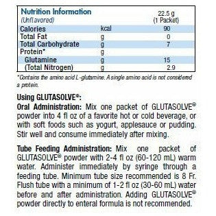 Glutasolve Glutamine Supplement | Nestle Nutrition