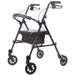 Deluxe Adjustable Rollator, Black, 6 Inch Wheels | Roscoe #MRT-413A-RBK