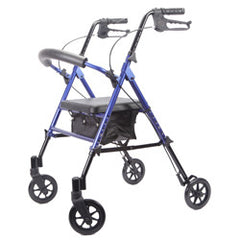 Deluxe Adjustable Rollator, Blue, 6 Inch Wheels | Roscoe MRT-413A-RB