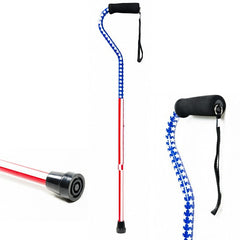 American Pride Offset Canes, Red White Blue | Lumex