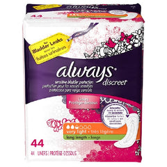 Female Incontinence Liner Always Discreet Light Long Moderate Absorbency | DualLock Core