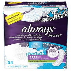Female Incontinence Liner Always Discreet Long Heavy Absorbency | DualLock Core