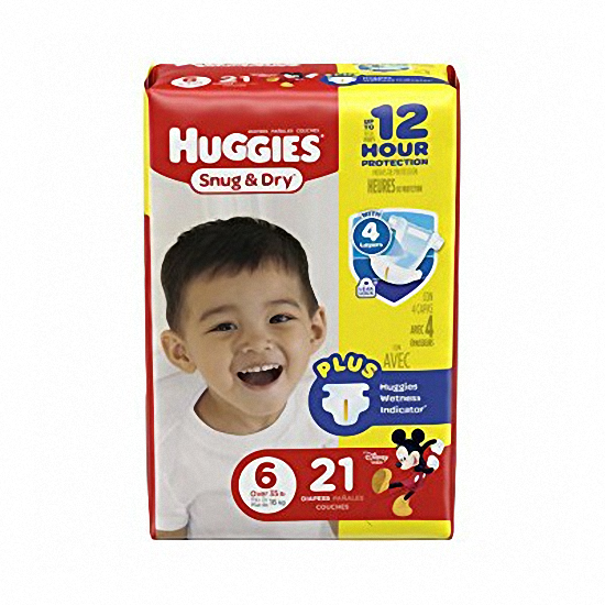 Size 6 Heavy Absorbency Snug & Dry Tab Closure Baby Diaper (Over 35 lbs) | Huggies #40674 - PRO2 Medical Equipment Lubbock