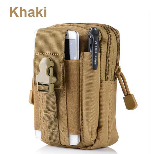Phone Case for iPhone 7 for Samsung with Outdoor Camping Climbing Bag, Tactical Military Molle Hip Waist Belt Wallet Pouch Purse