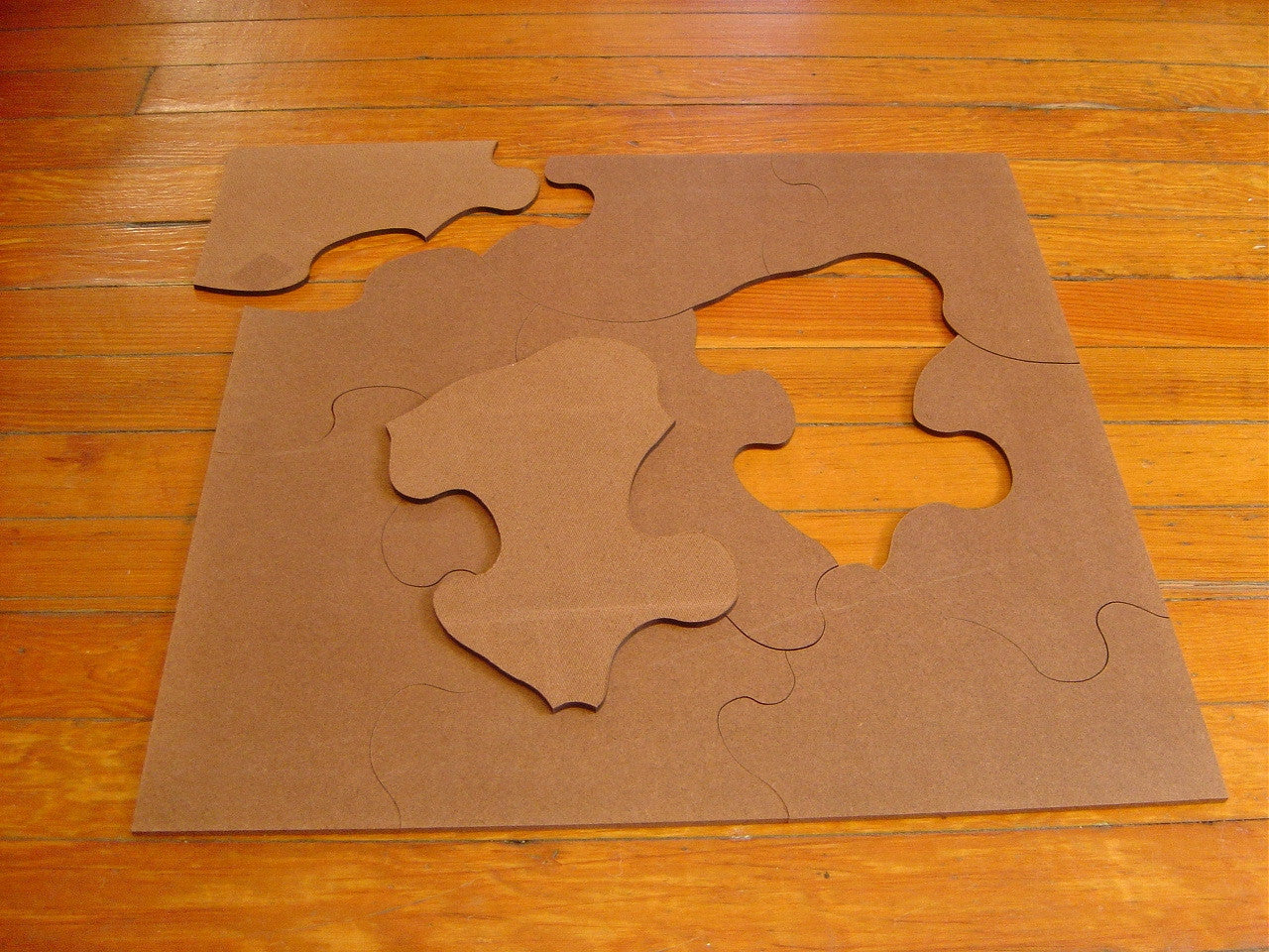 Blindfolded Giant Jigsaw Puzzle